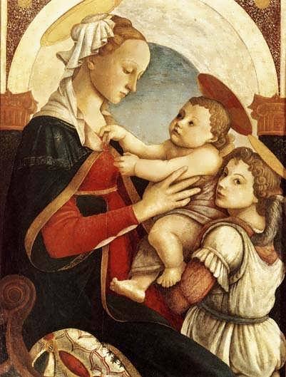 Botticelli_Madonnawithchildandanangel