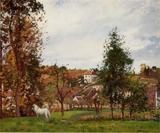 CamillePissarro-LandscapewithaWhiteHorseinaMeadowLHermitage