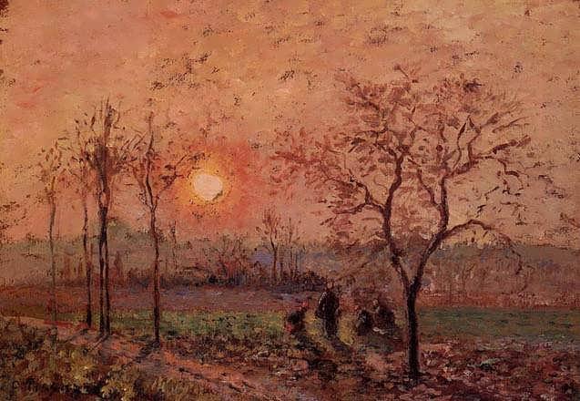 CamillePissarro-Sunset