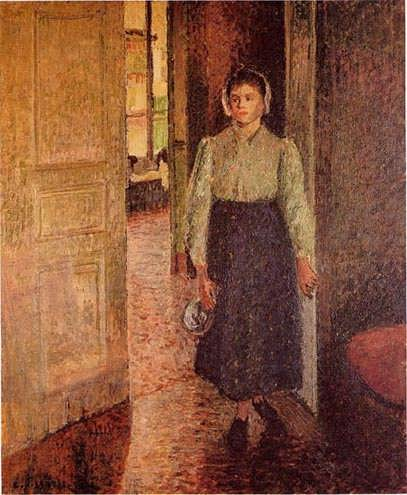 CamillePissarro-TheYoungMaid1
