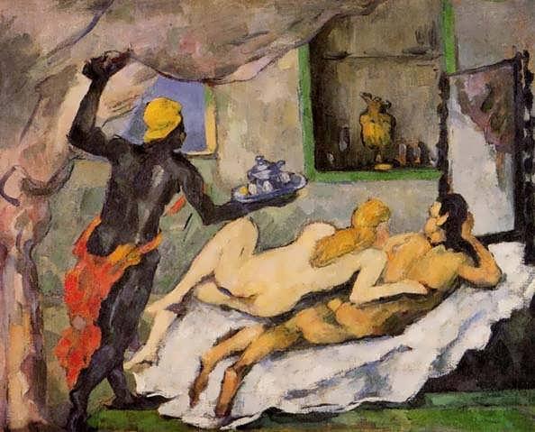 Cezanne-AfternooninNapleswithaBlackServant