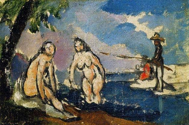 Cezanne-BathersandFishermanwithaLine