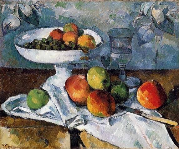 Cezanne-CompotierGlassandApplesakaStillLifewithCompotier