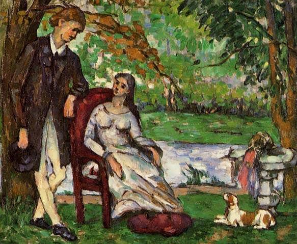 Cezanne-CoupleinaGardenakaTheConversation
