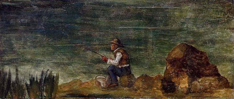 Cezanne-FishermanontheRocks