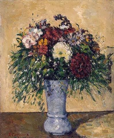 Cezanne-FlowersinaBlueVase