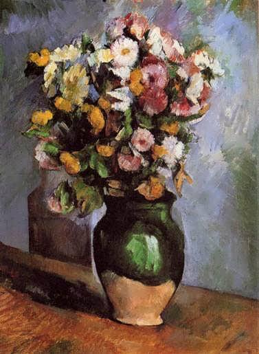Cezanne-FlowersinanOliveJar