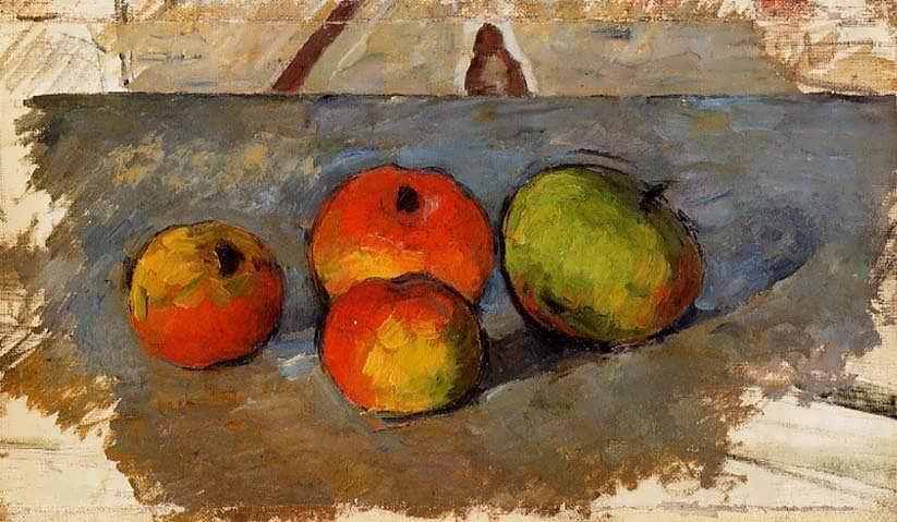 Cezanne-FourApples
