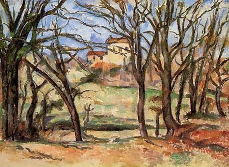 Cezanne-HousebehindTreesontheRoadtoTholonet