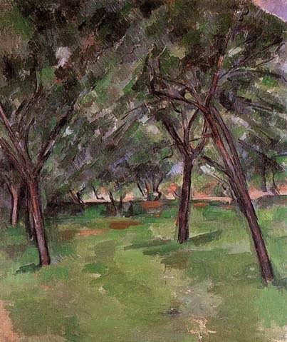 Cezanne-Orchard