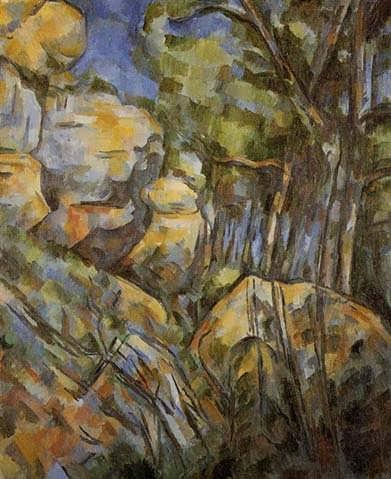 Cezanne-RocksneartheCavesabovetheChateauNoir