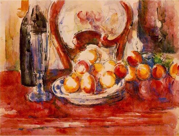 Cezanne-StillLife-ApplesaBottleandChairback