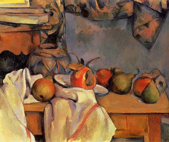 Cezanne-StillLifewithPomegranateandPears
