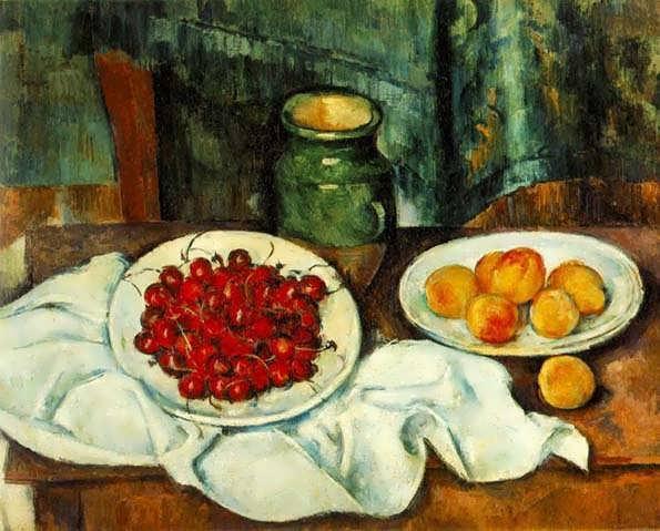 Cezanne-StillLifewithaPlateofCherriesakaCherriesandPeaches