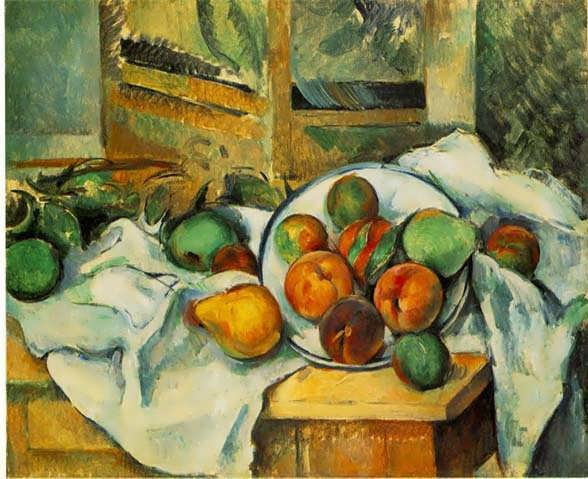 Cezanne-TableNapkinandFruit