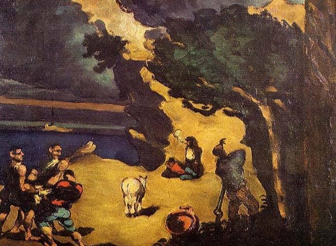 Cezanne-TheRobbersandtheDonkey