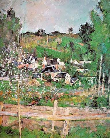 Cezanne-ViewofAuvers-sur-OiseakaTheFence