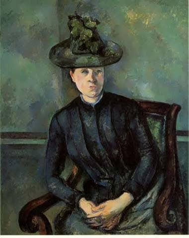 Cezanne-WomaninaGreenHatakaMadameCezanne