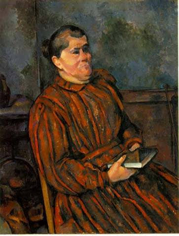 Cezanne-WomaninaRedStripedDress