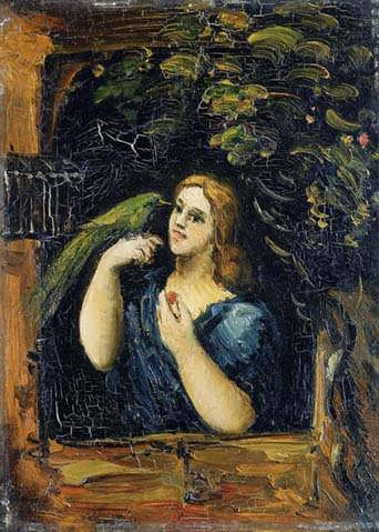 Cezanne-WomanwithParrot