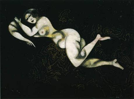 Chagall-NudeLyingDown