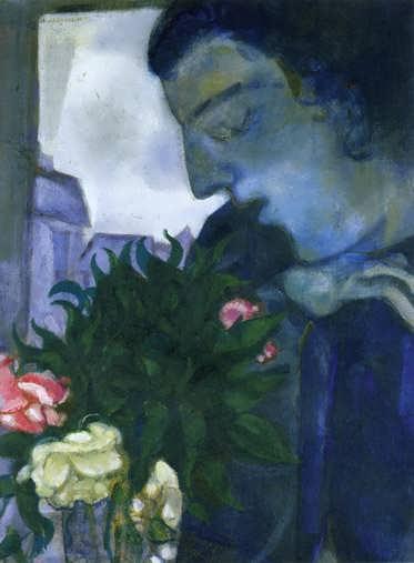 Chagall-SelfPortraitinProfile