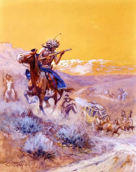 CharlesMarionRussell-IndianAttack