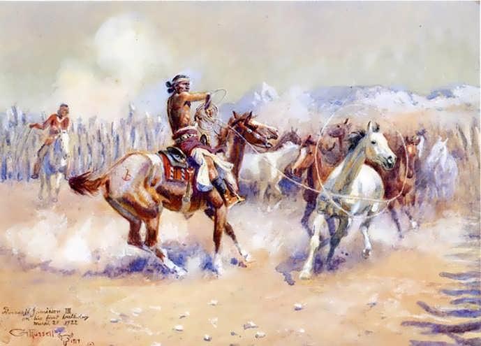 CharlesMarionRussell-NavajoWildHorseHunters