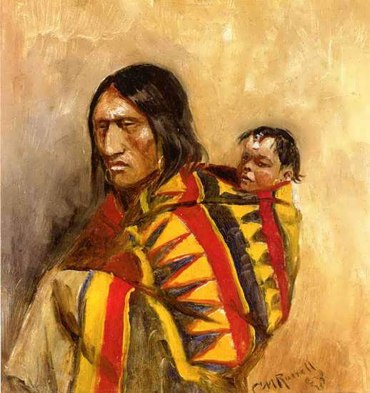 CharlesMarionRussell-Stone-in-MoccasinWoman