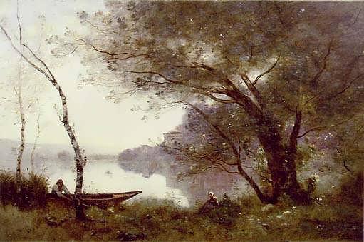 Corot-TheBoatmanofMortefontaine
