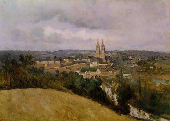 Corot-ViewofSaintLowiththeRiverVireintheForeground