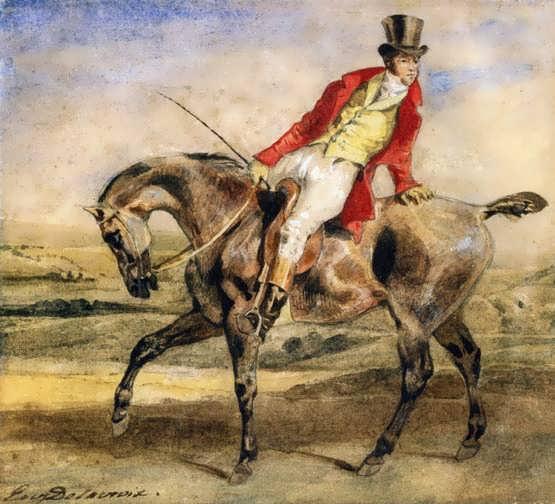 Delacroix-GentlemanonaDarkBrownHunter