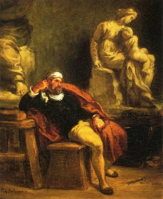 Delacroix-MichaelangeloInHisStudy