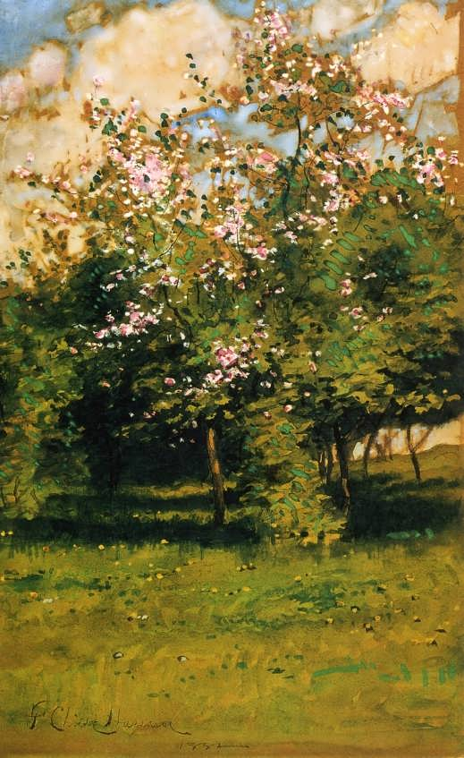 FrederickChildeHassam-BlossomingTrees