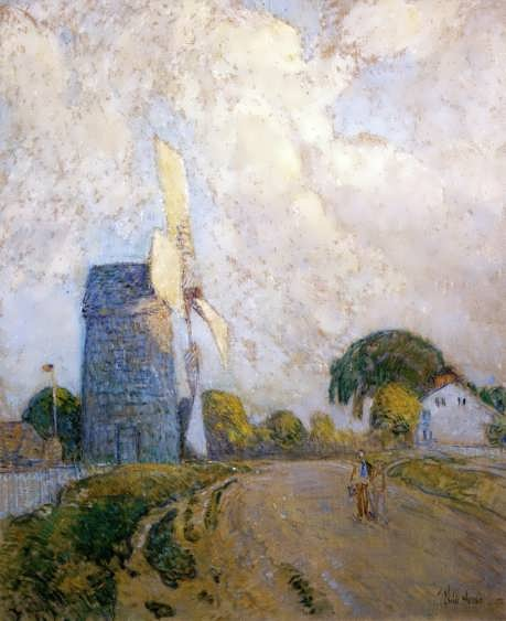 FrederickChildeHassam-WindmillatSundownEastHampton