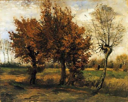 Gogh-AutumnLandscapewithFourTrees