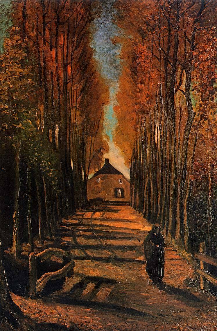 Gogh-AvenueofPoplarsatSunset