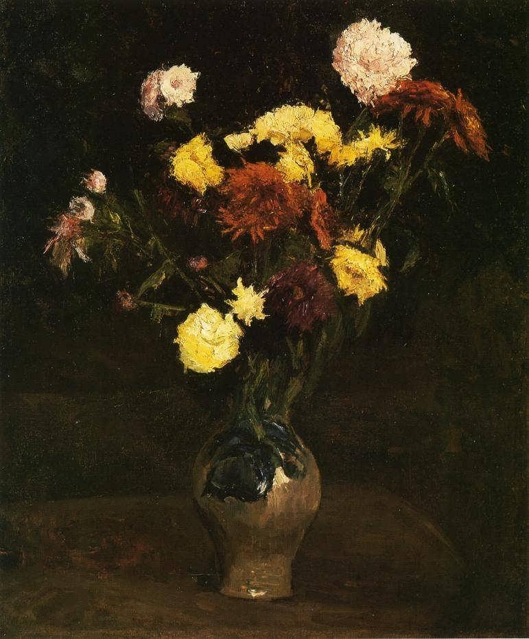 Gogh-BasketofCarnationsandZinnias