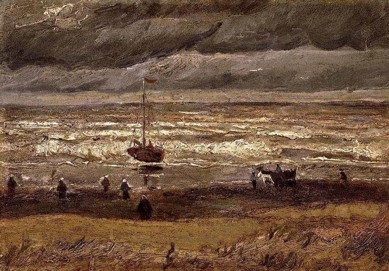 Gogh-BeachatScheveningeninStormyWeather