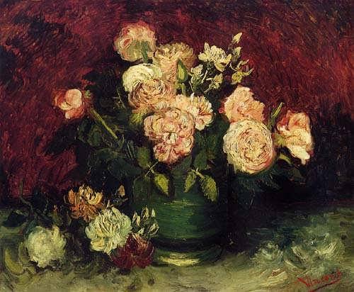 Gogh-BowlwithPeoniesandRoses
