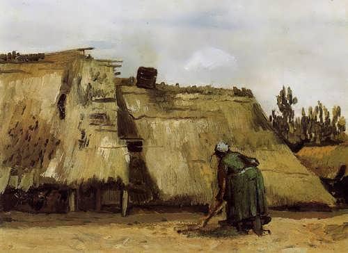 Gogh-CottagewithWomanDigging