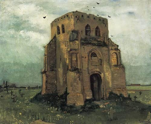 Gogh-CountryChurchyardandOldChurchTower