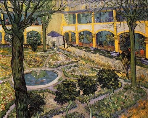 Gogh-CourtyardoftheHospitalinArles