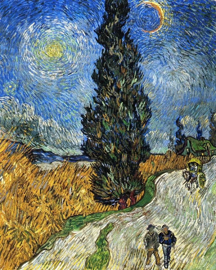 Gogh-CypressagainstaStarrySkyakaRoadwithCypresses