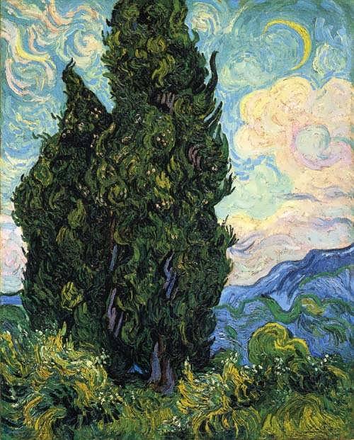Gogh-Cypresses