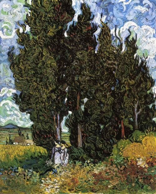 Gogh-CypresseswithTwoWomen