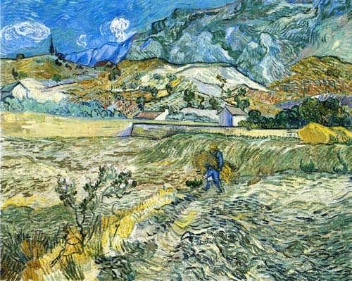 Gogh-EnclosedFieldwithPeasantakaLandscapeatSaint-Remy