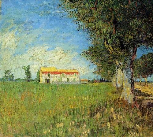Gogh-FarmhouseinaWheatField