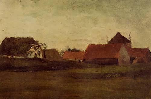 Gogh-FarmhousesinLoosduinenneartheHagueinTwilight