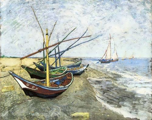 Gogh-FishingboatsontheBeachatLesSaintes-Maries-de-la-Mer